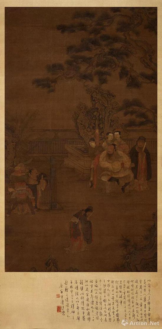 宋 佚名《朱云折槛图》  76×133厘米