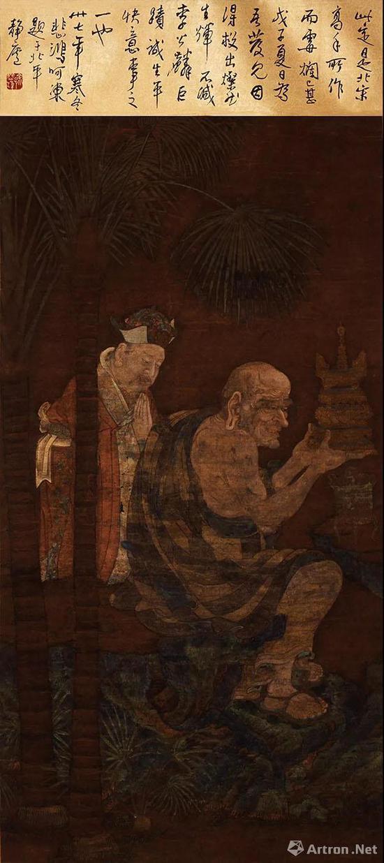 宋 佚名《罗汉像》  68×134厘米