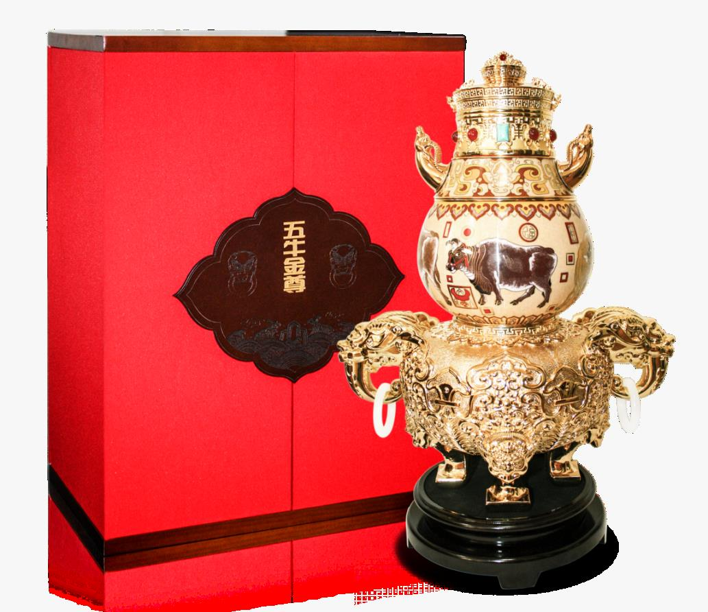 刘永森耄耋创作的景泰蓝《五牛金尊》全球限量首发仪式在京举行