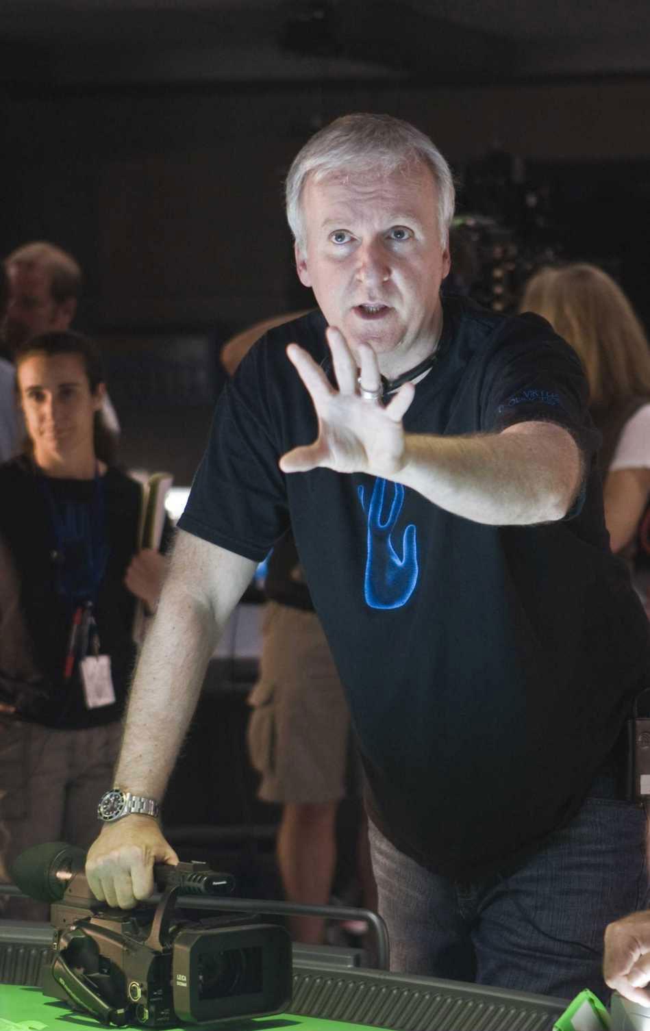詹姆斯·卡梅隆在《阿凡达》拍摄现场