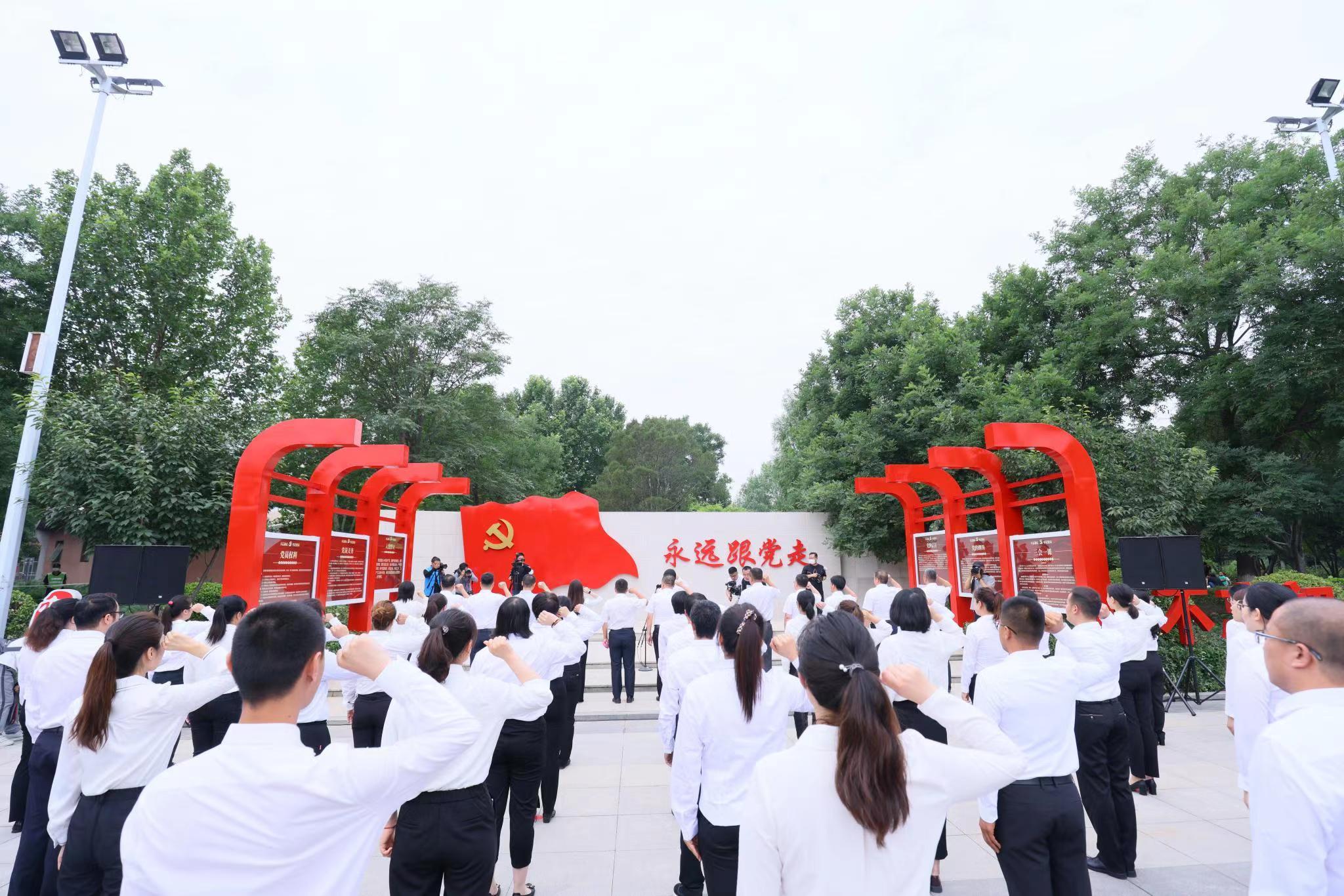 亦庄镇举办党建文化广场揭牌仪式暨党员宣誓活动