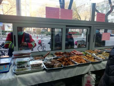 老字号致美斋饭庄推出外卖窗,满足周边食客的刚需